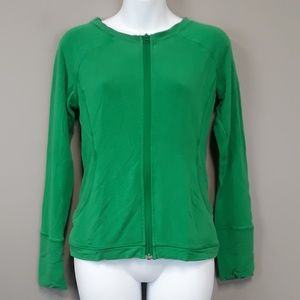Lululemon Green Zip Up Athletic Top Size Small